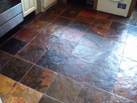 Chinese Slate floor - After