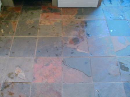 Chinese Slate floor - Before