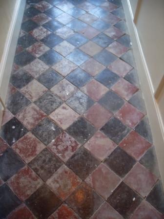 Quarry Tiled Floor - Before