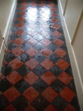 Quarry Tiled Floor - During Restoration