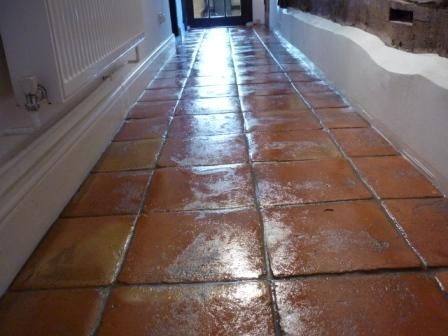 Terracotta Tiled Floor - After