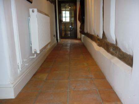 Terracotta Tiled Floor - Before