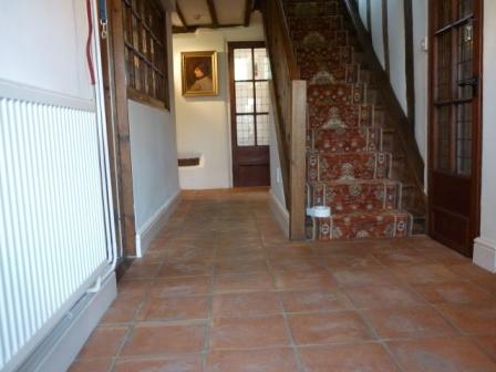 Terracotta Tiled Floor - Before
