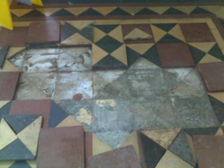 Victorian Tile - Before