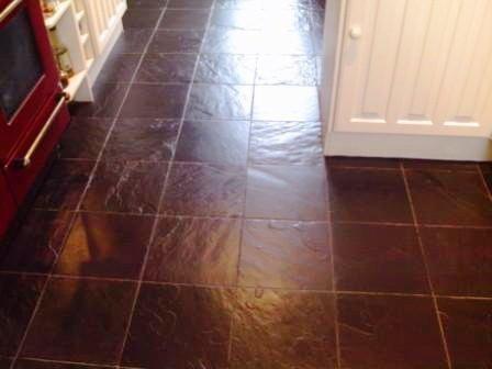 Welsh Slate floor - After
