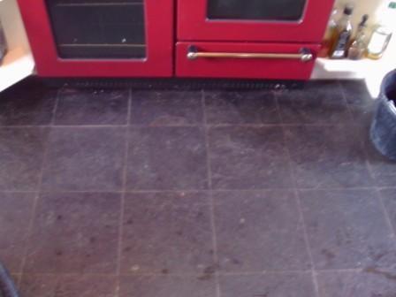 Welsh Slate floor - Before