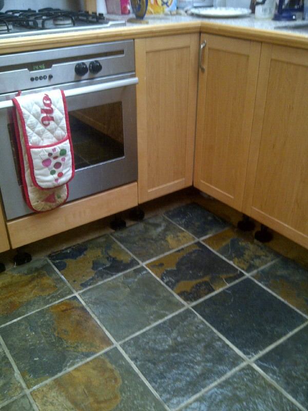Kitchen Slate Floor After