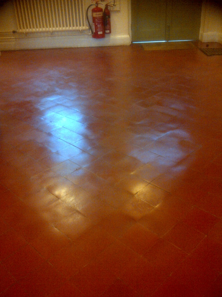 Quarry Tiles Cleaned and Sealed