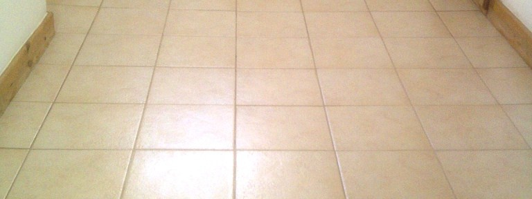Travertine Kitchen floor Cleaned and Sealed in Brixworth