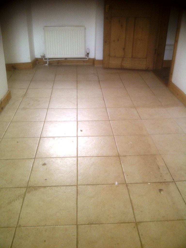 Ceramic Tiled Hallway Before