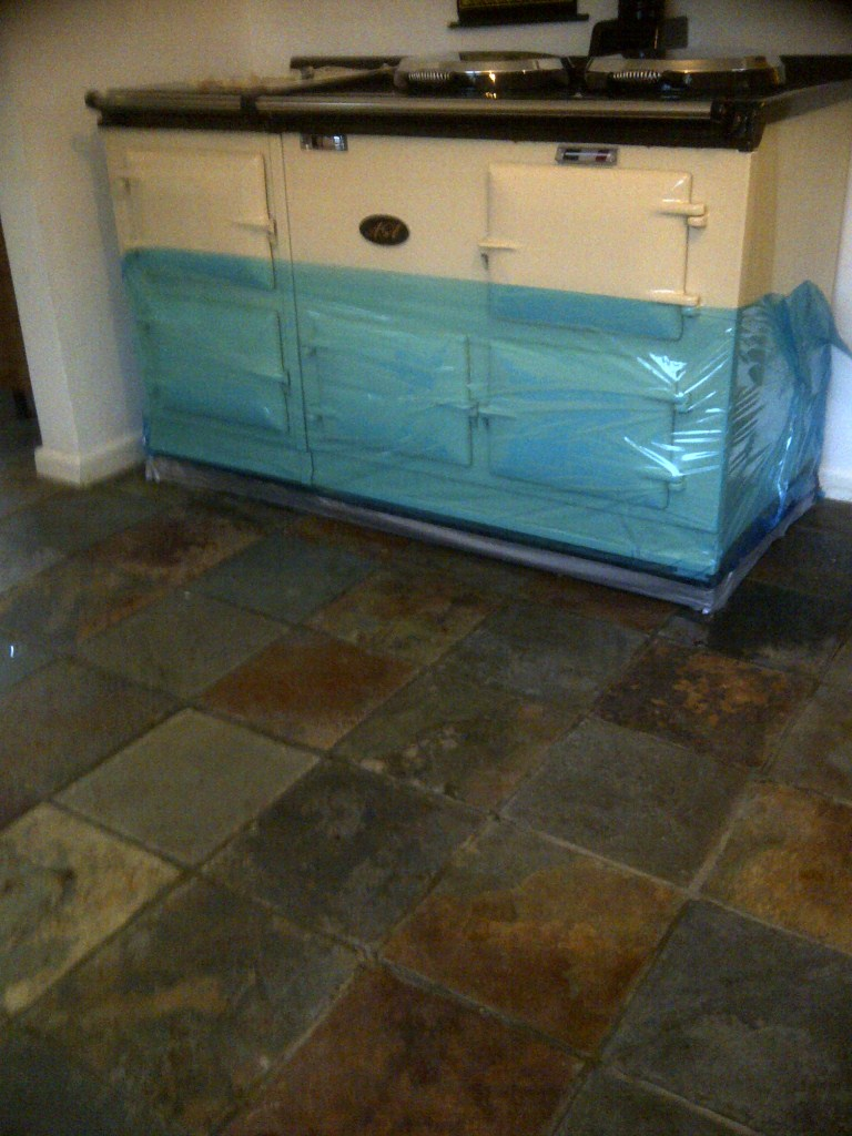 Chinese Slate Tile Before Kitchen