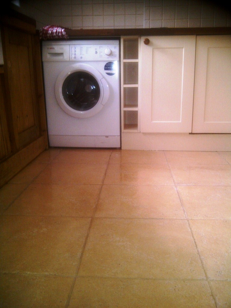 Travertine Kitchen Tiles After