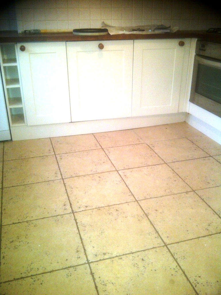 Travertine Kitchen Tiles Before