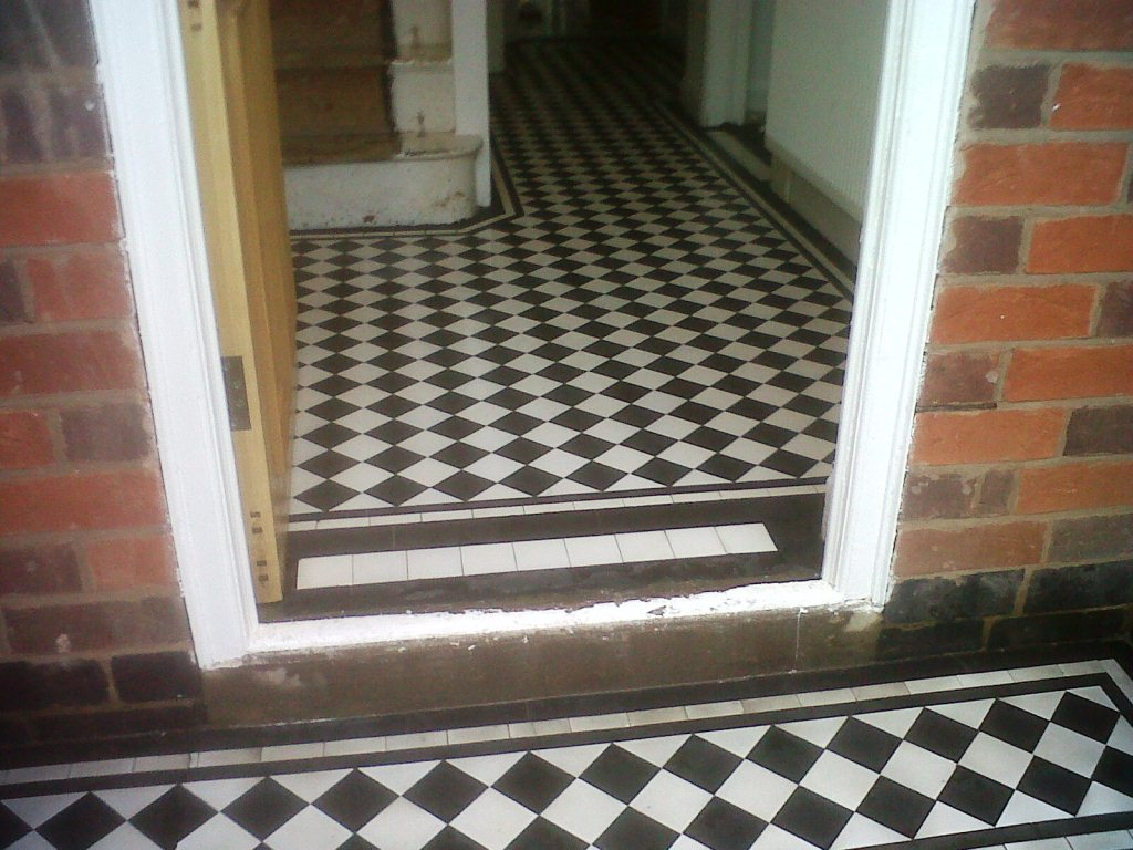 Victorian Tiles in Towcester After Restoration