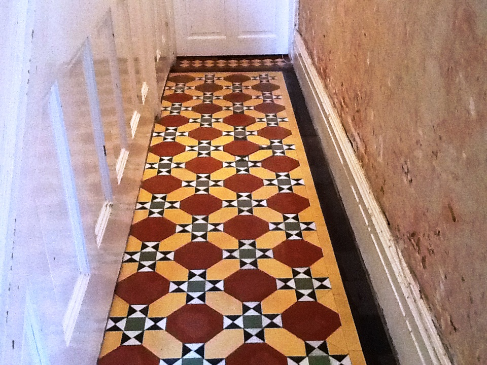 Victorian floor in Kettering after cleaning 1