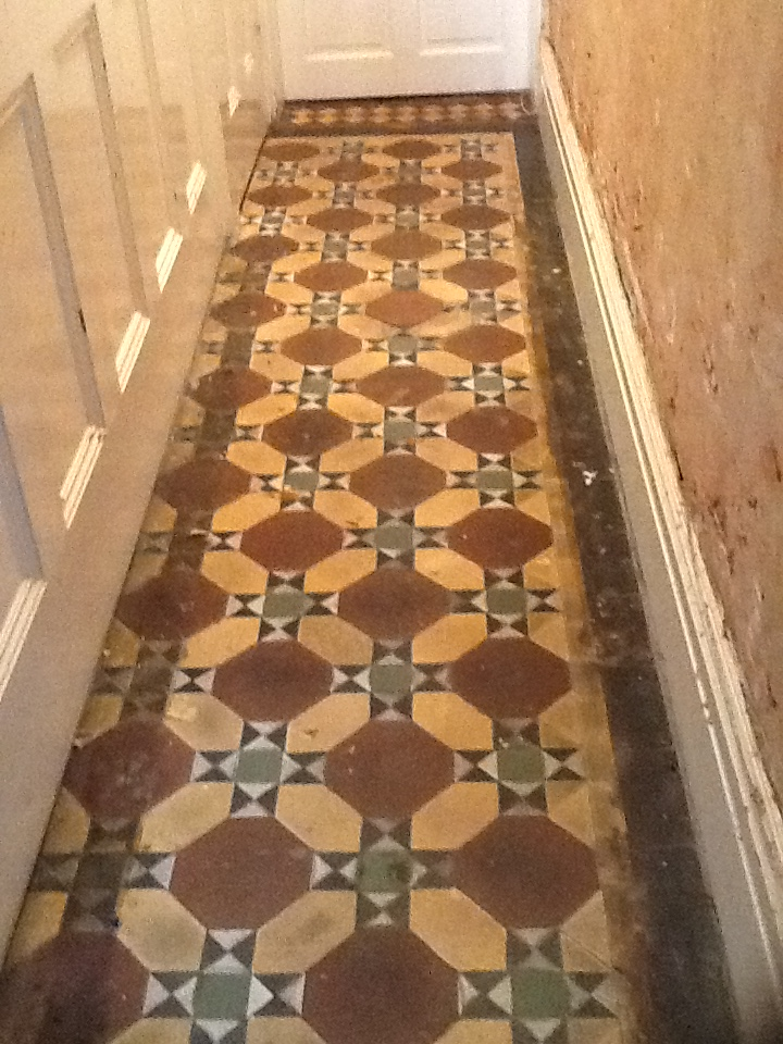 Victorian floor in Kettering before cleaning 1