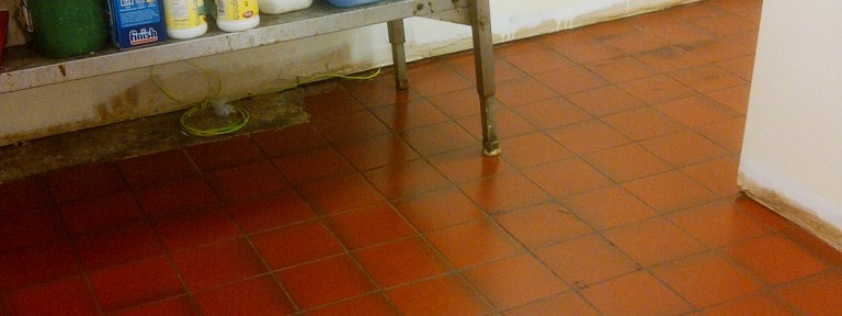 Kitchen Quarry Tile Cleaning and Sealing in Rushden