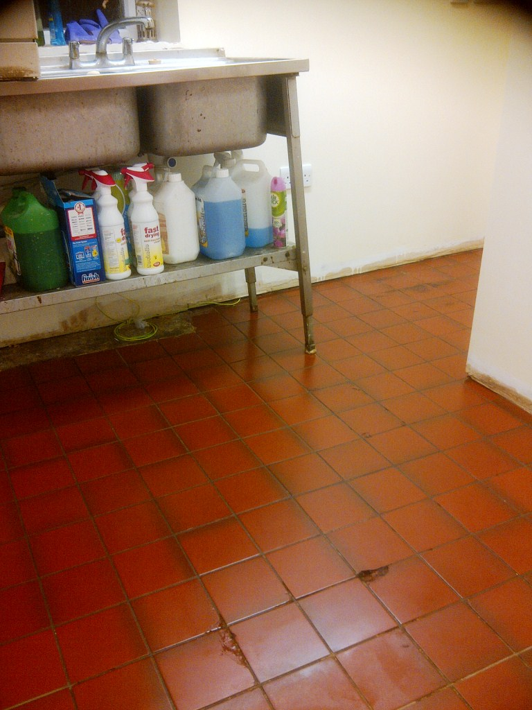 Quarry Tiles in Rushden After cleaning