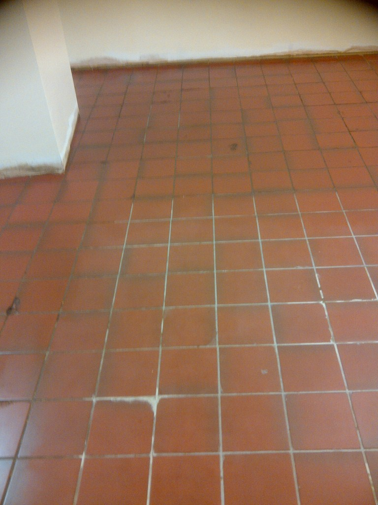 Quarry Tiles in Rushden before cleaning