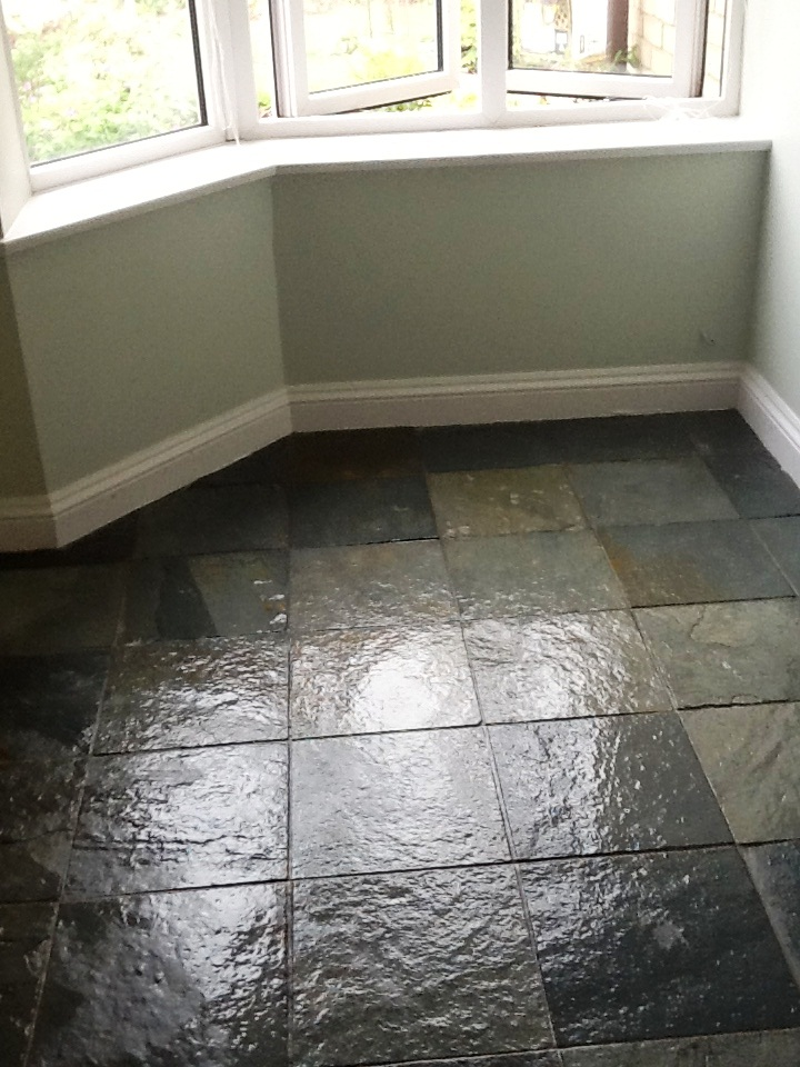 Slate Tiles Towcester After Sealing