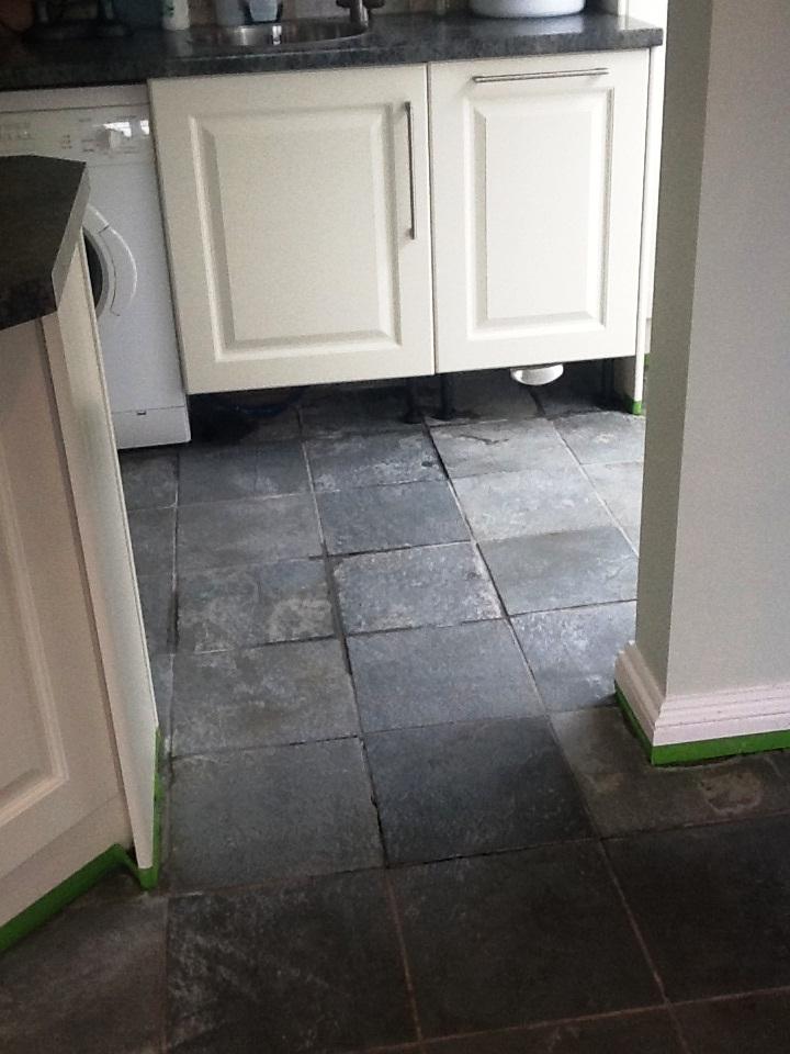 Towcester Slate Tiles After Cleaning