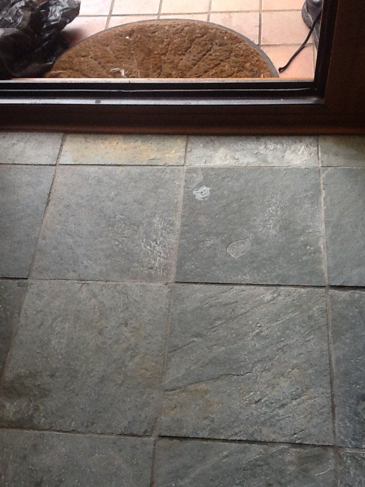 Towcester Slate Tiles Before Cleaning