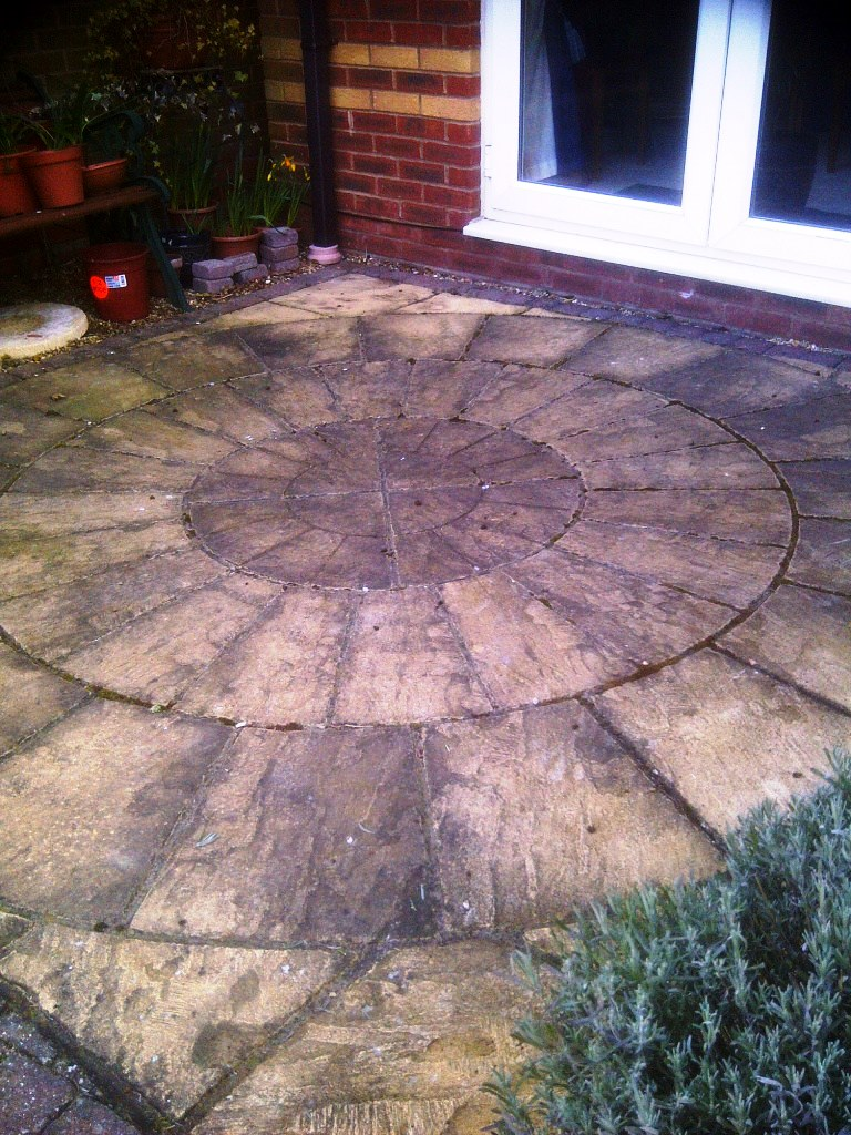 Stone Circle Before Cleaning ...