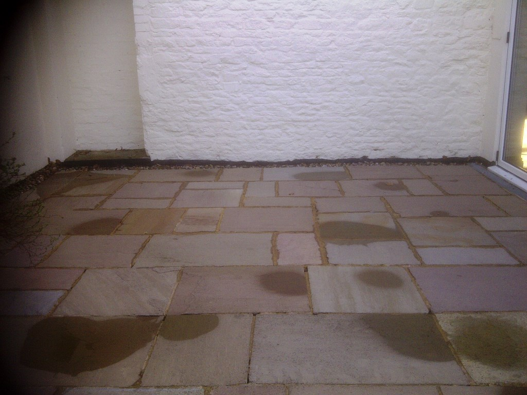 Paving Slabs in Achurch After Cleaning