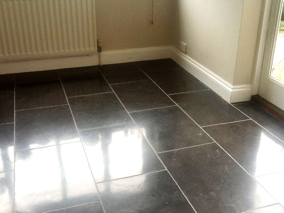 Black Marble in Brackley After Polishing