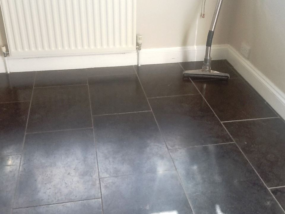 Black Marble in Brackley Before Polishing