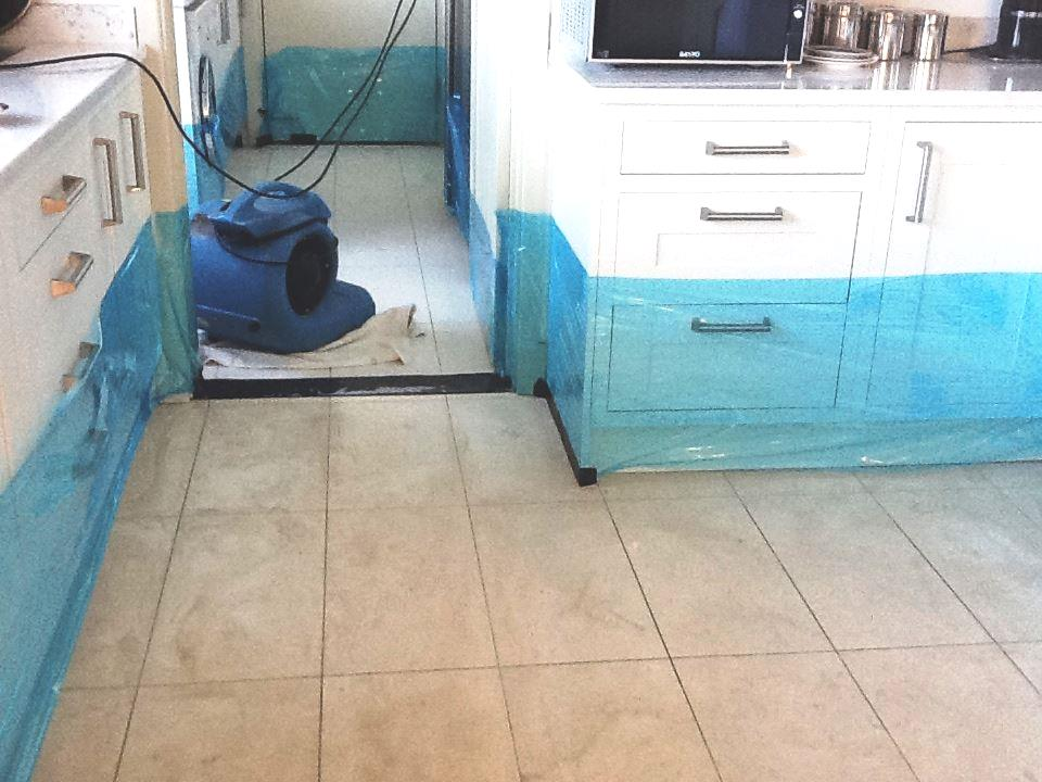 Dirty Grout in Titchmarsh Kitchen During Cleaning