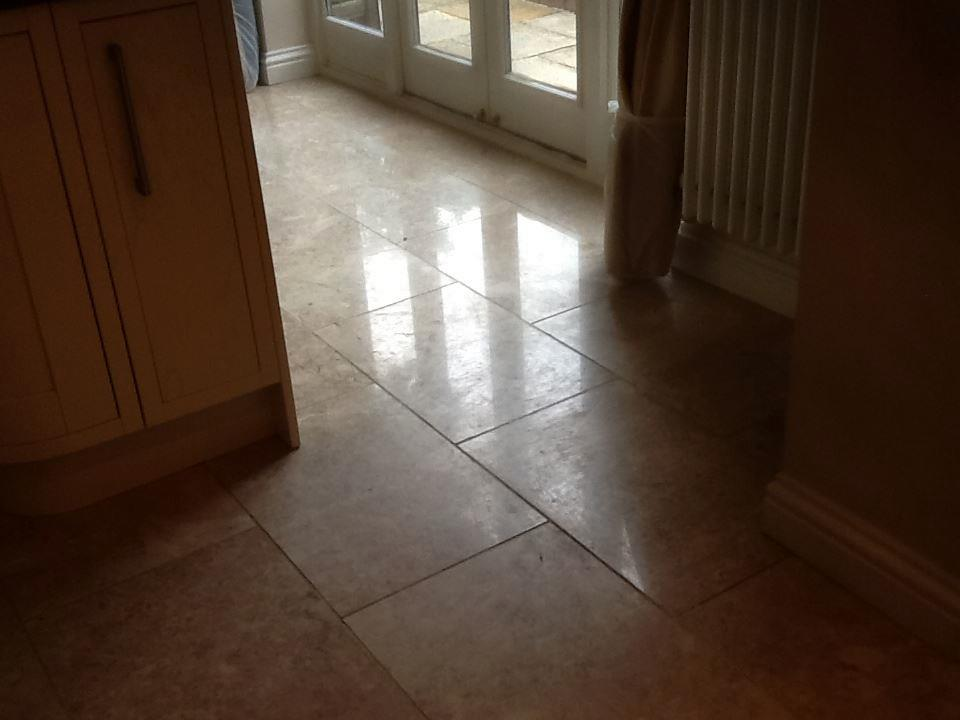 Travertine Tiles Before Cleaning Polishing in Northampton