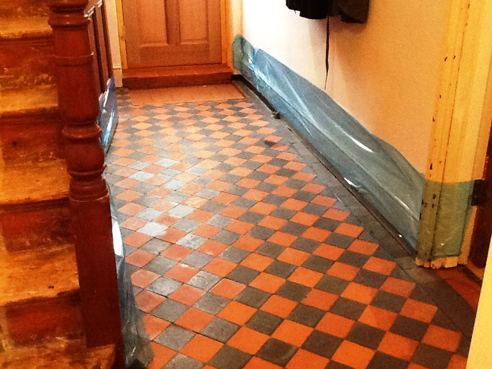 Victorian Quarry Tiled Floor Finedon After