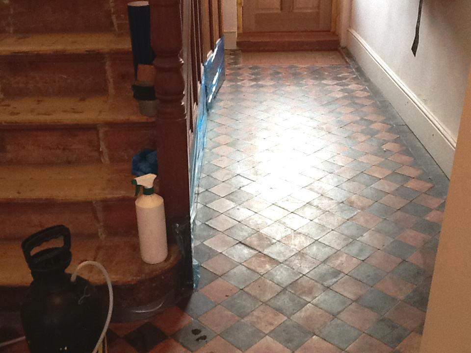 Victorian Quarry Tiled Floor Finedon Before