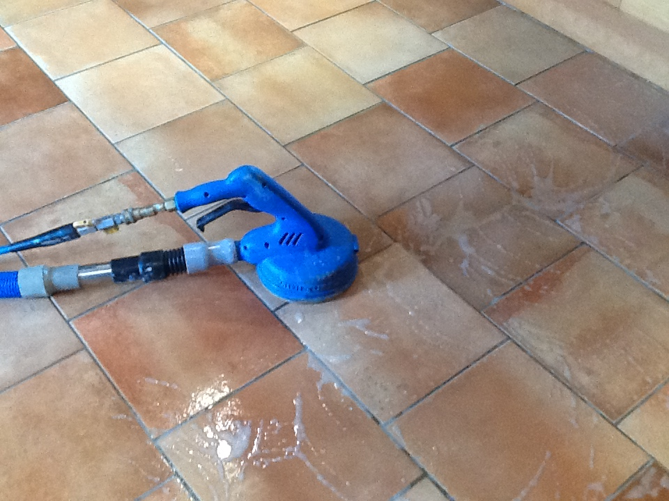 Grout Cleaning Difficulty In A Rushden Kitchen Northamptonshire Tile