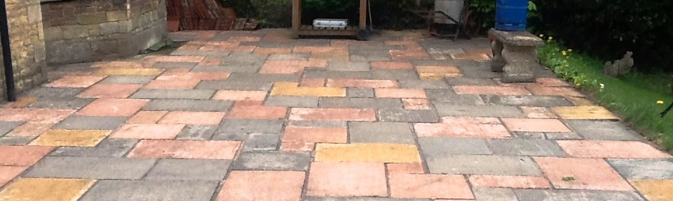 Cleaning and Repointing a Patio in Rushden
