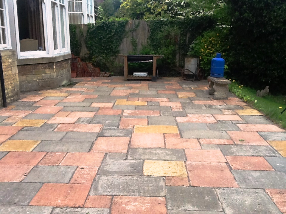 Patio Cleaned and Repointed in Rushden