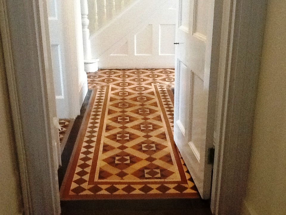 Victorian Hallway Tiles Builder Cleaning after in Northampton