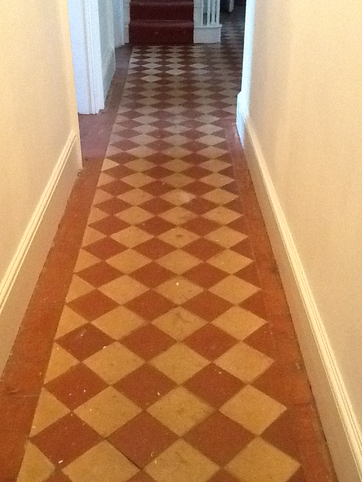 Restoring The Appearance Of A Quarry Tiled Hallway Floor Quarry