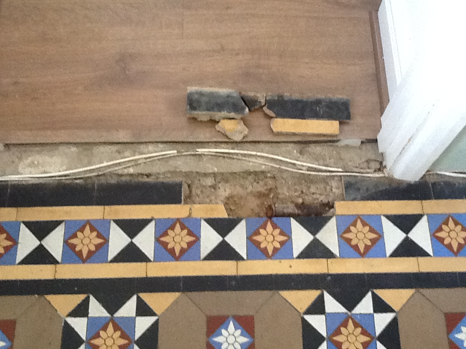 Victorian Floor Before Repairs in Wellingborough