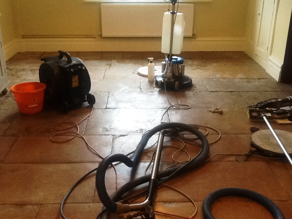 Flagstone Sitting Room Grafton Underwood Before Cleaning