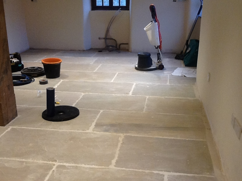 Removing Grout Haze Left From Sandstone After Tiling Stone
