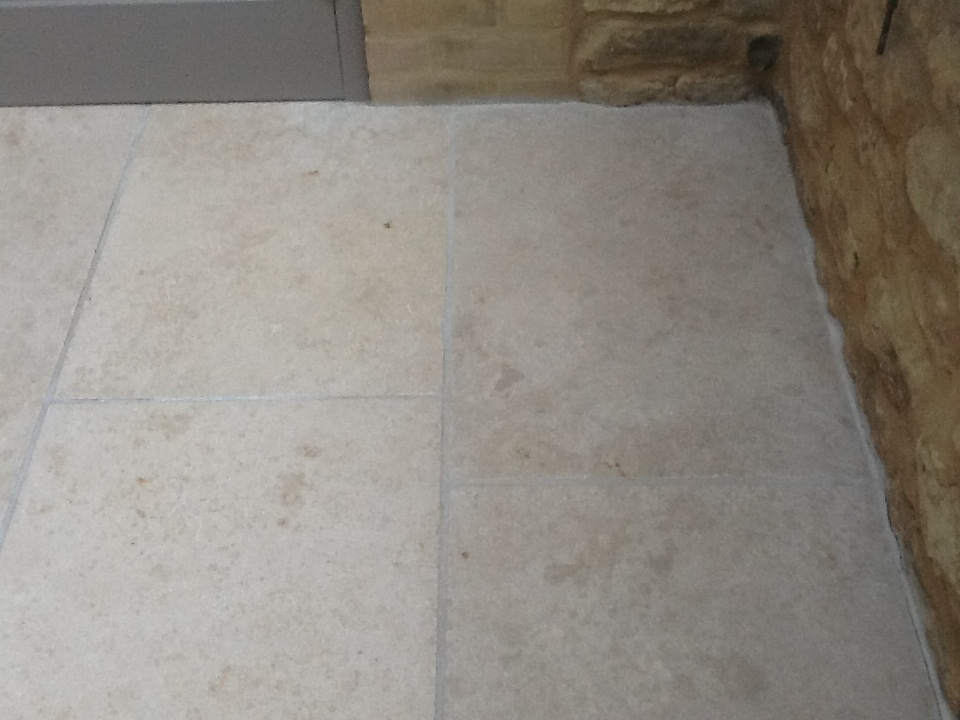 Cracked Limestone Conservatory Floor Restored In Grafton