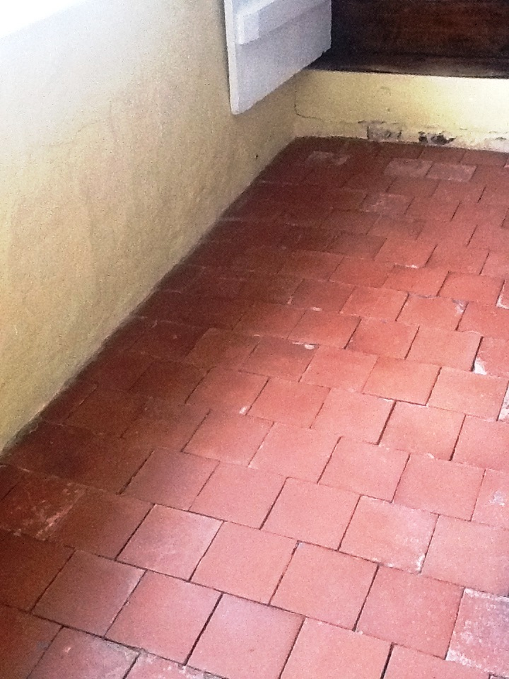 Red Quarry Tiles Stripped after cleaning Abington