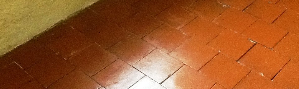 Red Quarry Tiled Floor Restored in Abington