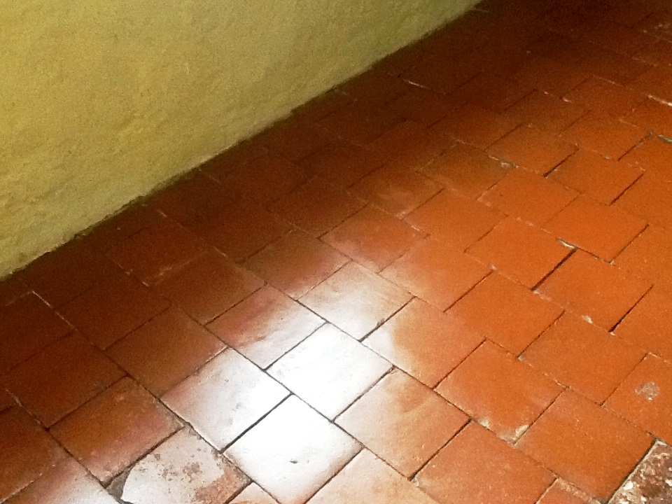 Red Quarry Tiles Stripped and Sealed Abington