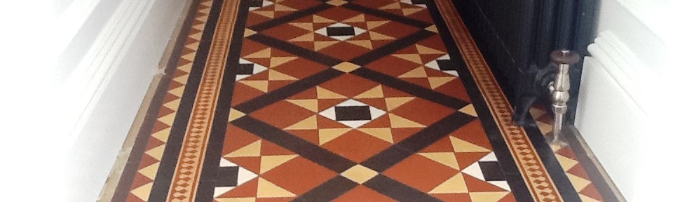 Restoring a Victorian Quarry Tiled Hallway in Northampton