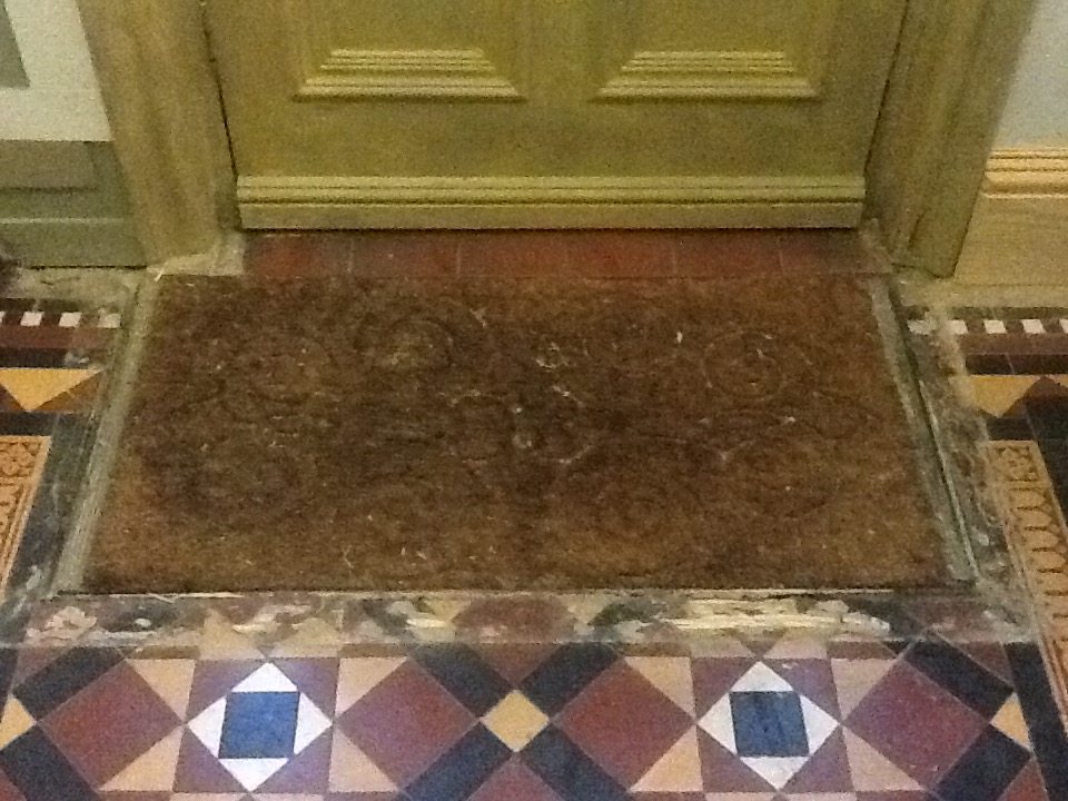 Victorian Tiles Before Cleaning Northampton