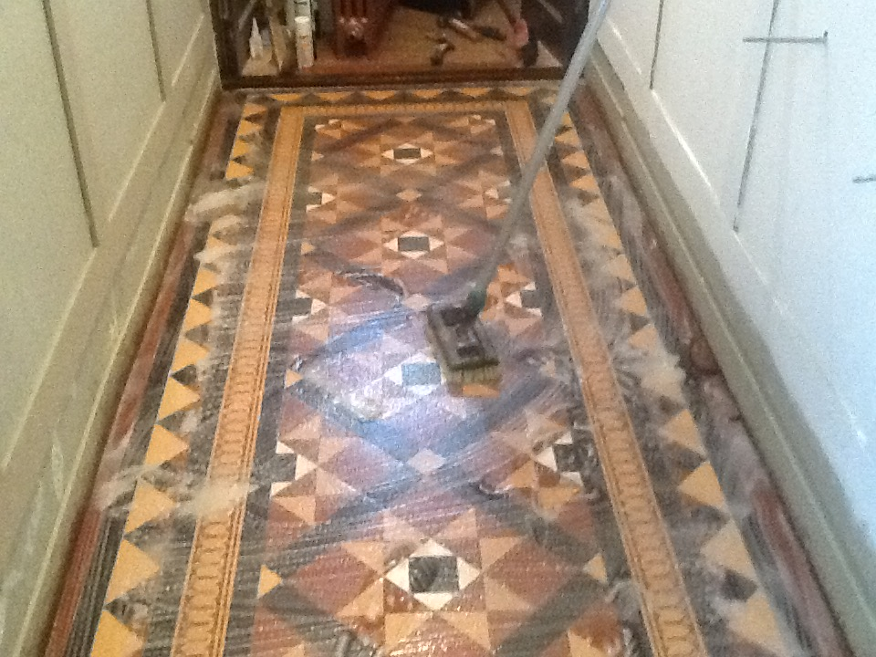 Victorian Tiles During Cleaning Northampton