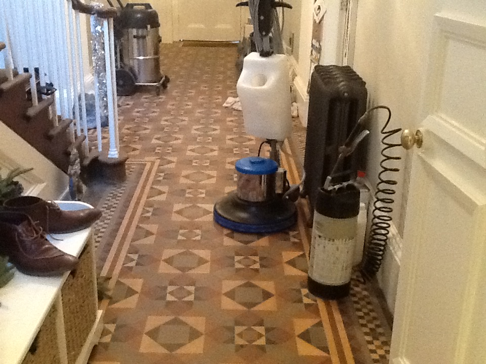 Victorian Tiles Stamford Before Cleaning